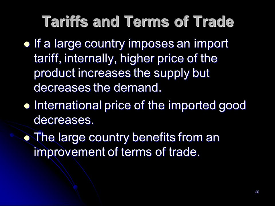 Tariffs and Terms of Trade