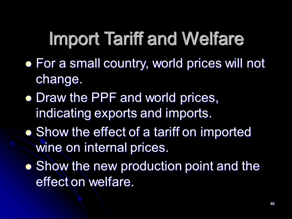 Import Tariff and Welfare