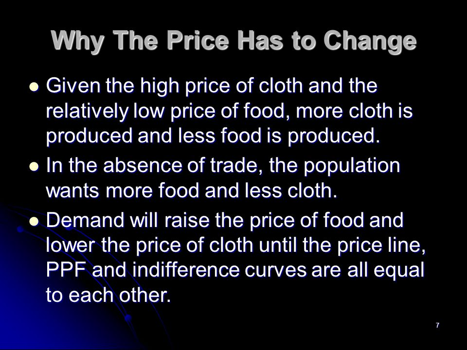 Why The Price Has to Change