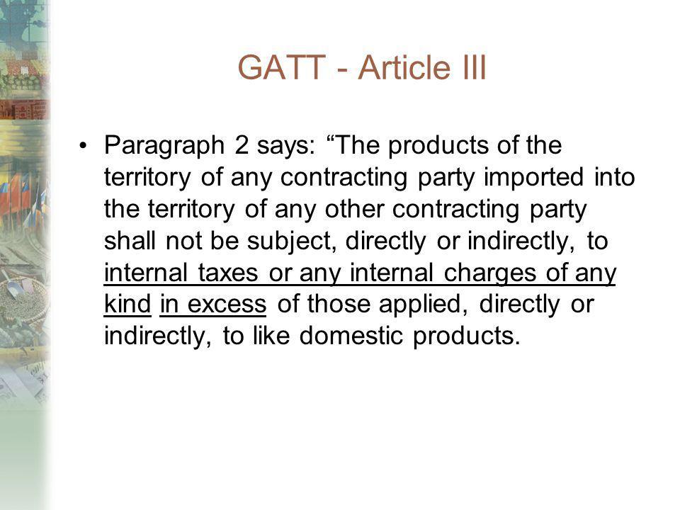GATT - Article III
