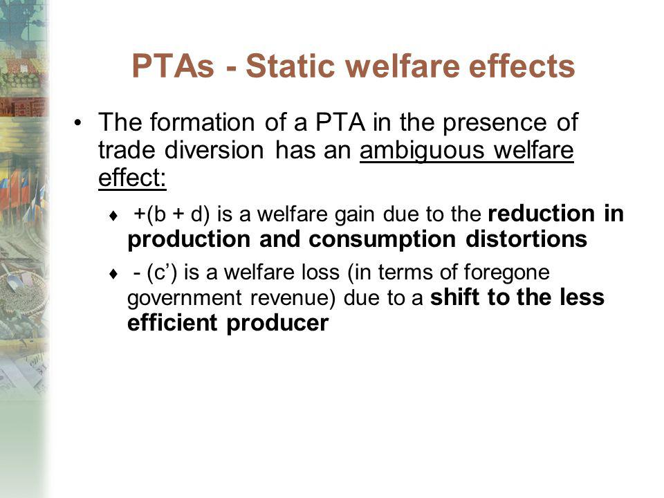 PTAs - Static welfare effects