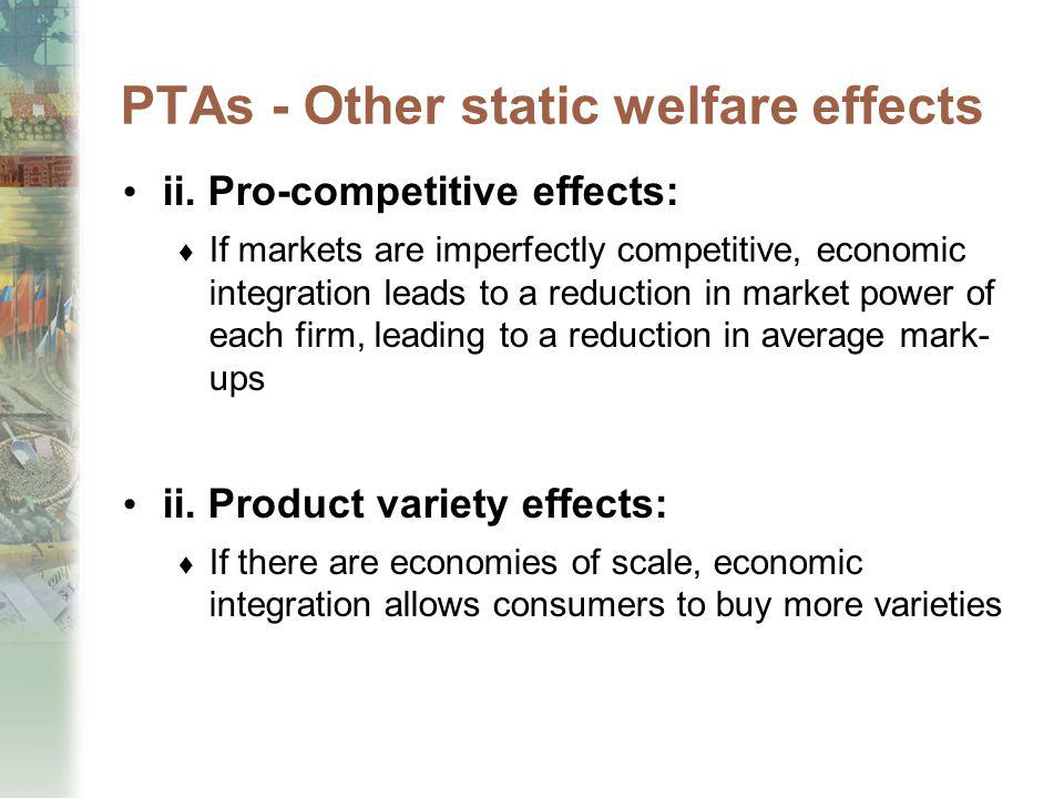 PTAs - Other static welfare effects