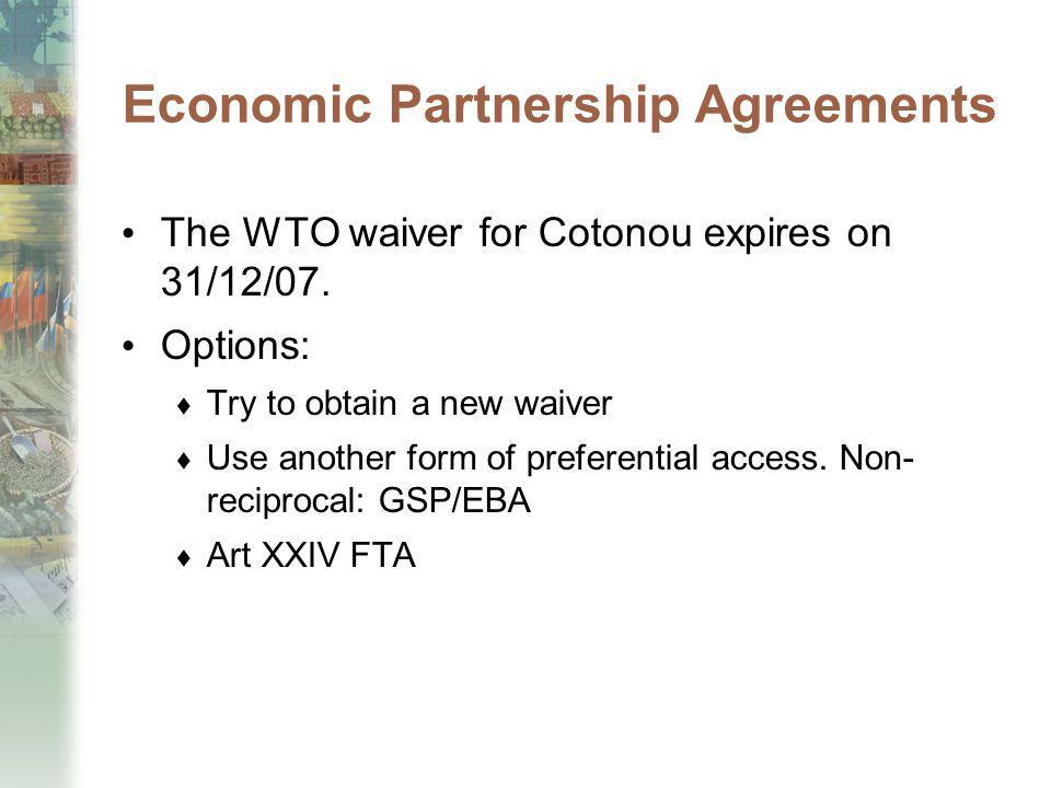 Economic Partnership Agreements