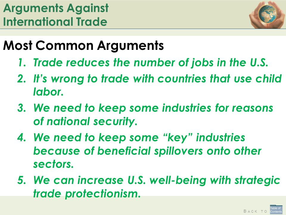 Arguments Against International Trade
