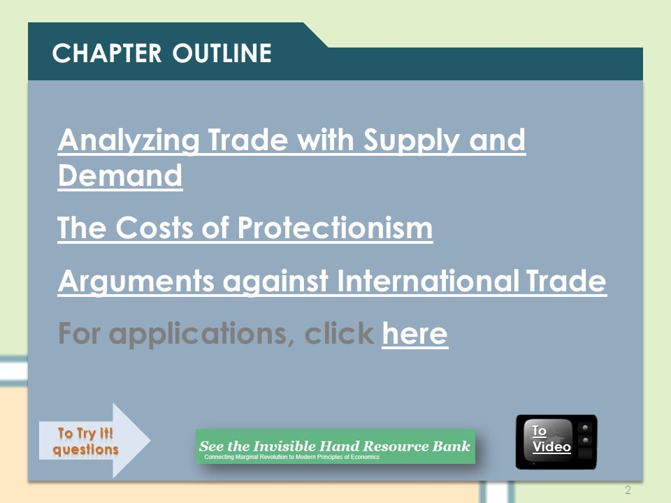 Analyzing Trade with Supply and Demand The Costs of Protectionism