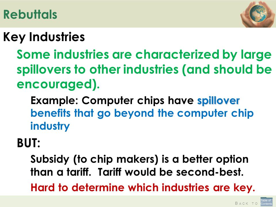 Rebuttals Key Industries