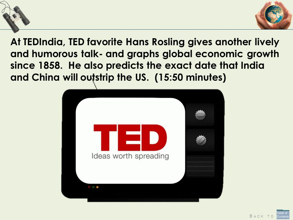 At TEDIndia, TED favorite Hans Rosling gives another lively and humorous talk- and graphs global economic growth since 1858. He also predicts the exact date that India and China will outstrip the US. (15:50 minutes)