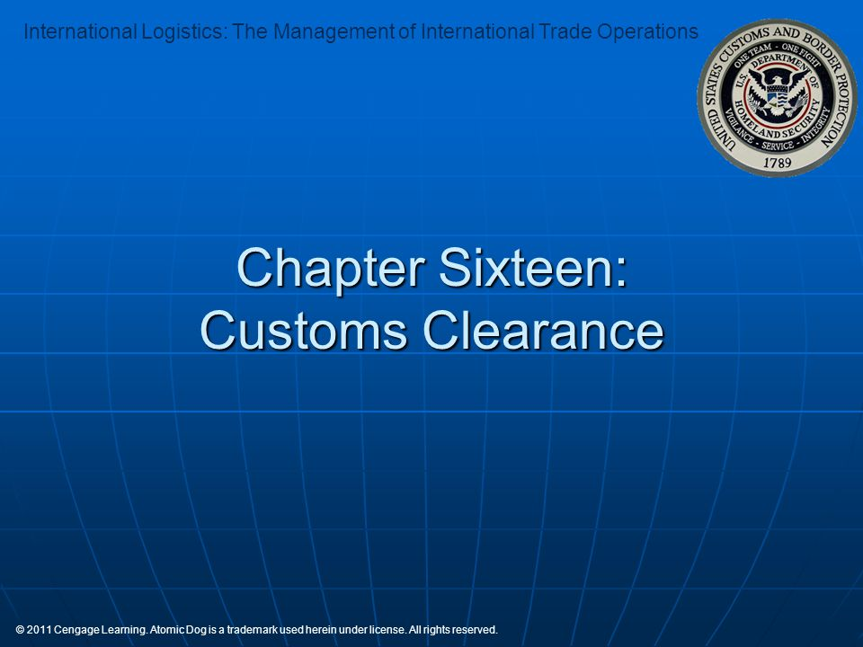 Chapter Sixteen: Customs Clearance