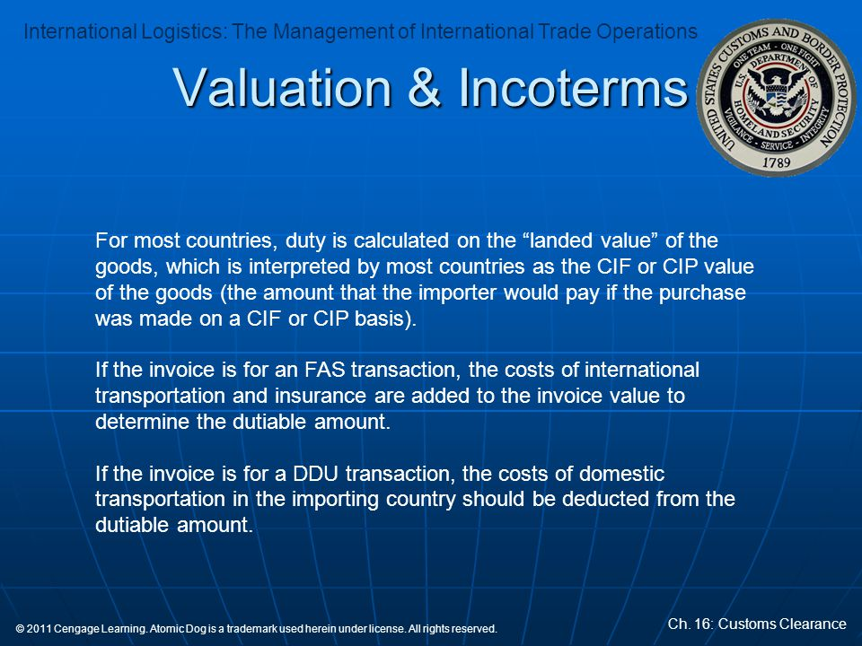 Valuation & Incoterms