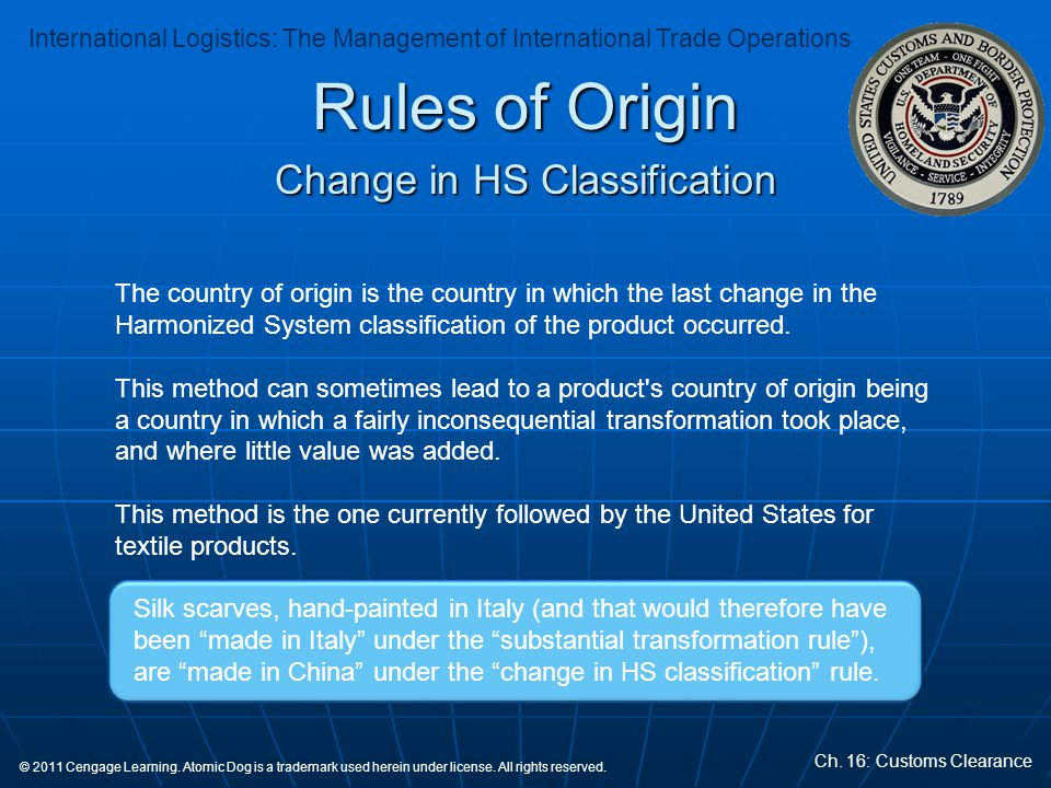 Change in HS Classification