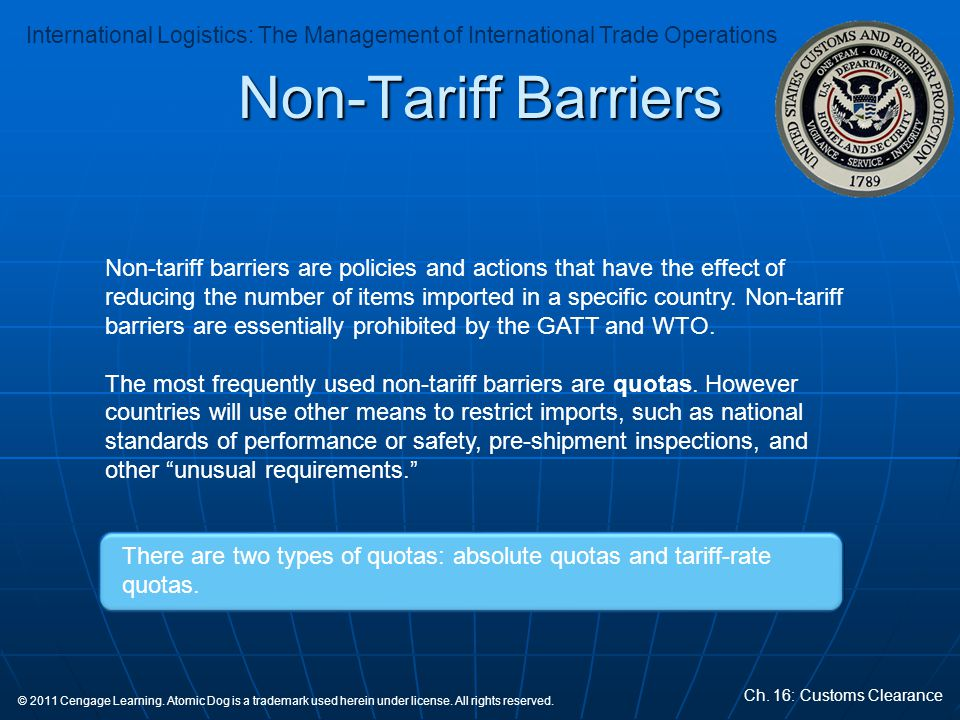 Non-Tariff Barriers