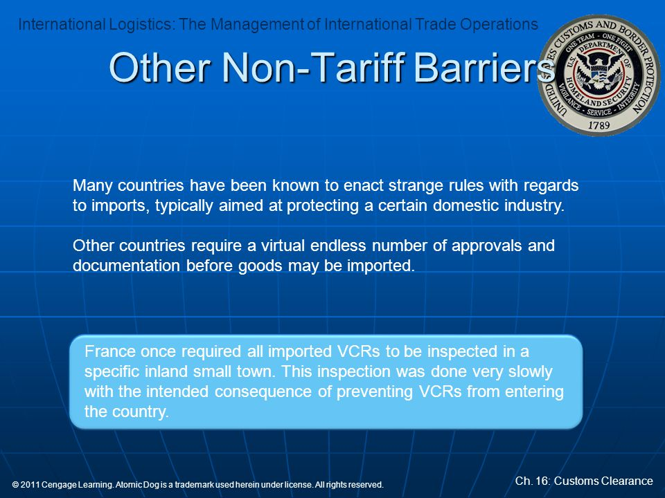 Other Non-Tariff Barriers