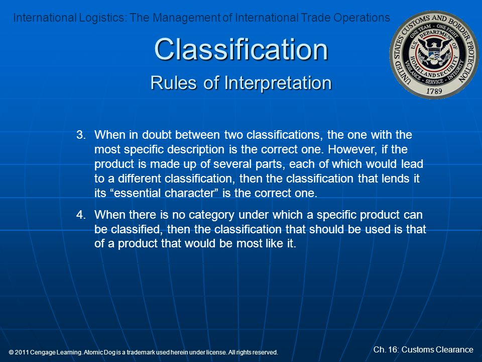 Rules of Interpretation