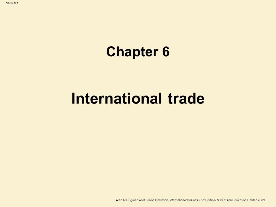 Chapter 6 International trade