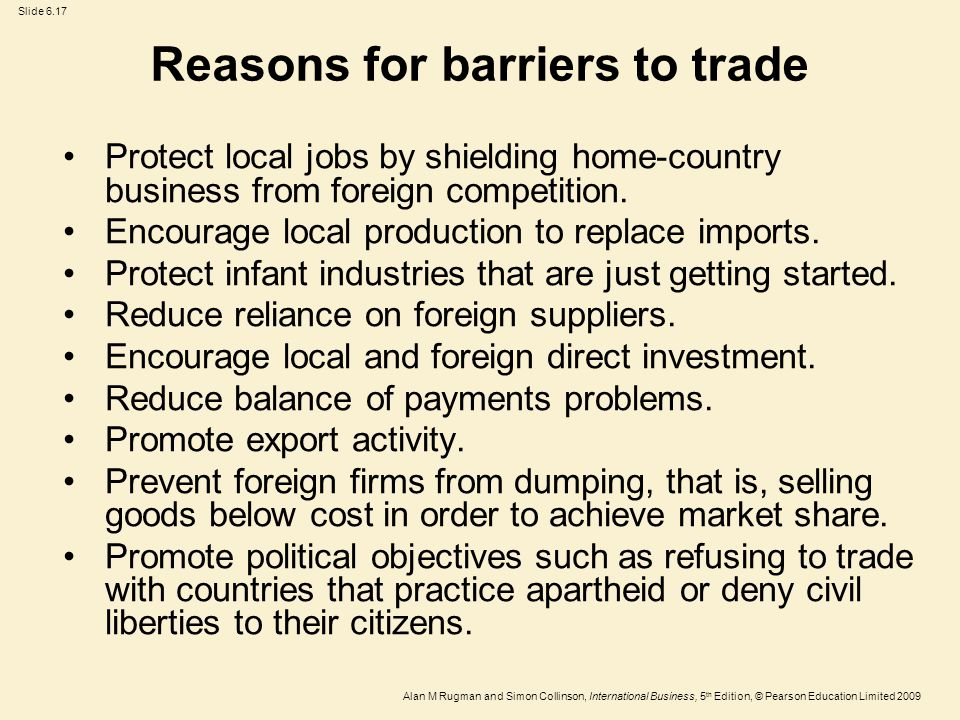 barriers and solutions to international trade Trade barriers are often tariffs and taxes imposed to protect - or favour - local   rounds of the international trade negotiations which govern the current wto  system  concerned may be possible in order to find a mutually beneficial  solution.