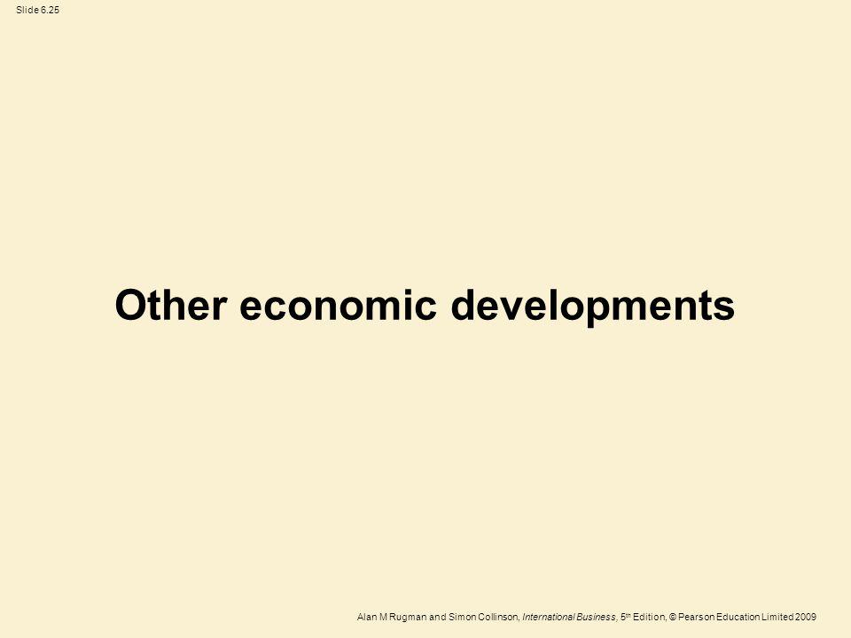 Other economic developments
