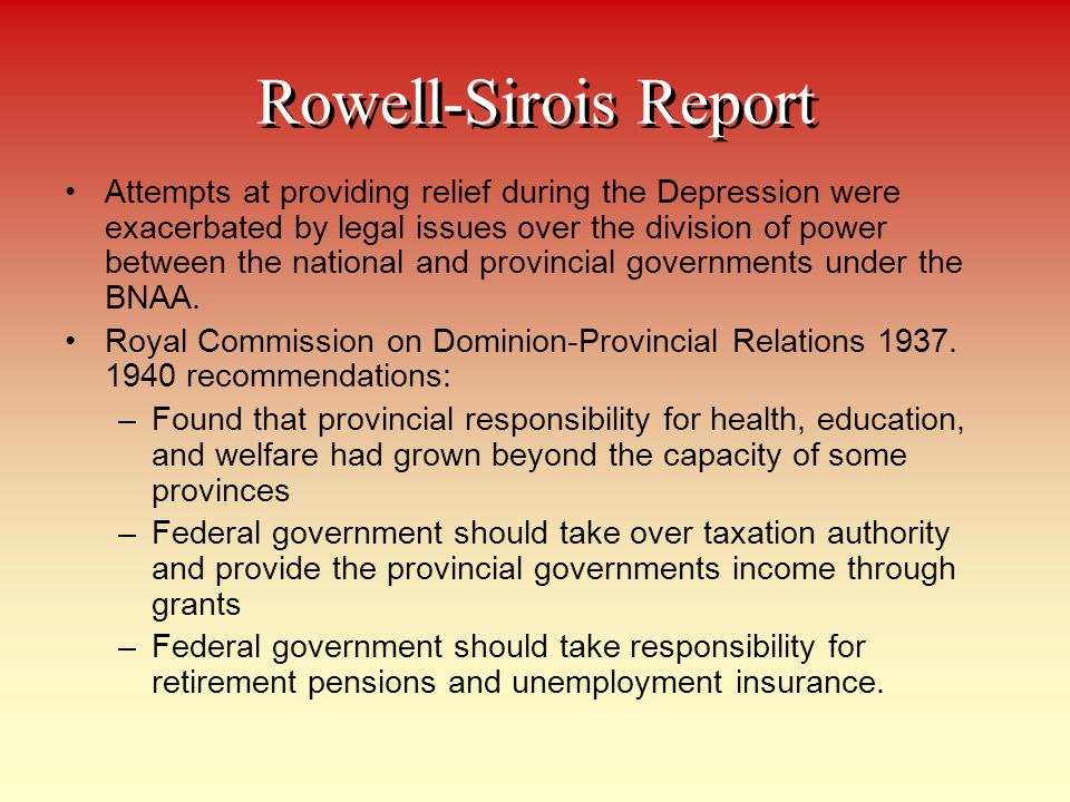 Rowell-Sirois Report