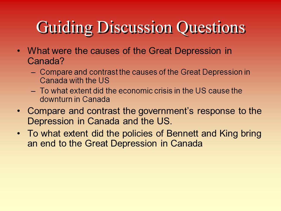 Guiding Discussion Questions