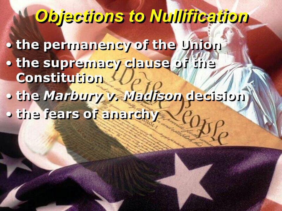Objections to Nullification