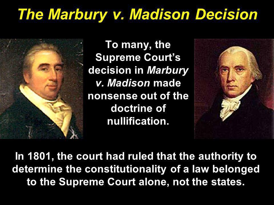 The Marbury v. Madison Decision