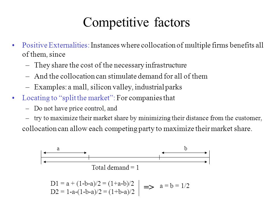 Competitive factors =>