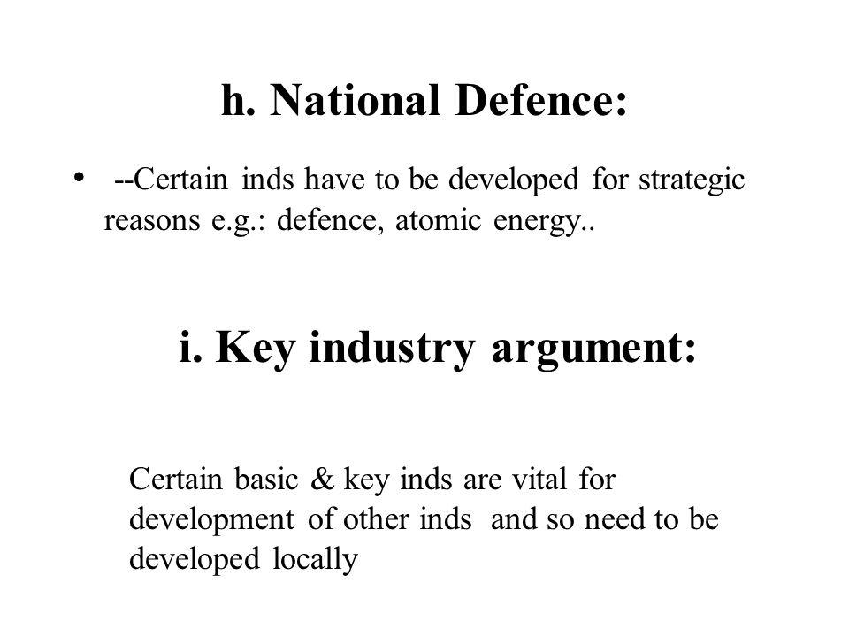 i. Key industry argument: