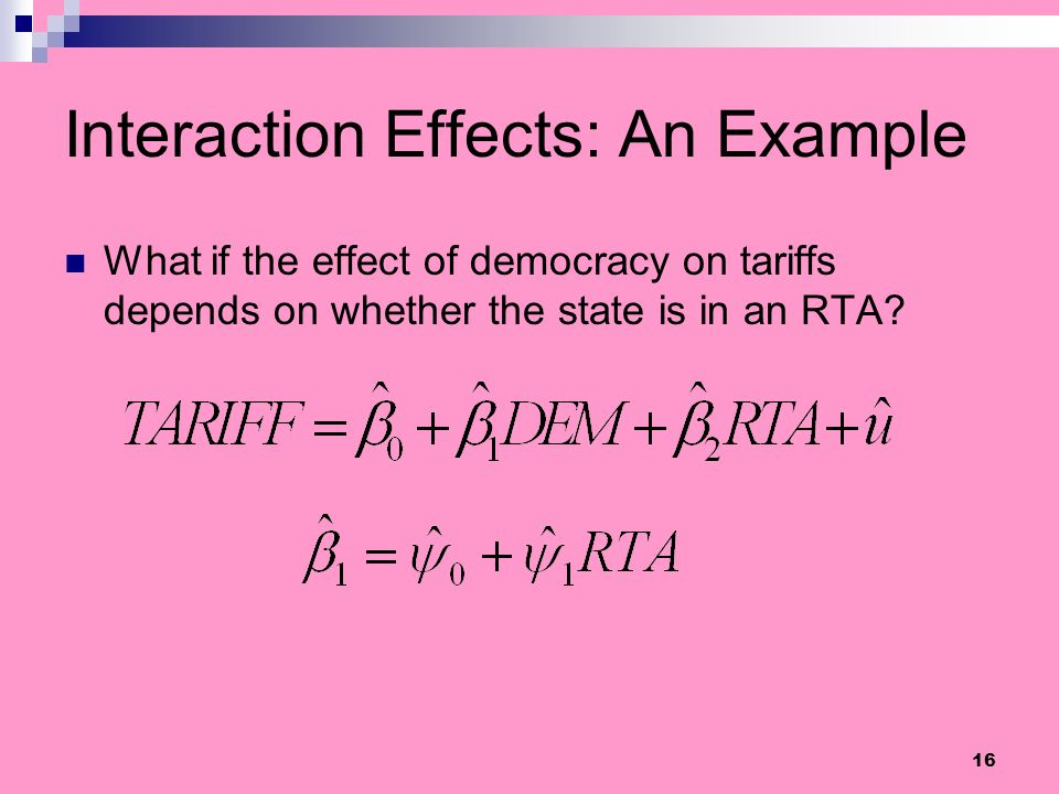 Interaction Effects: An Example