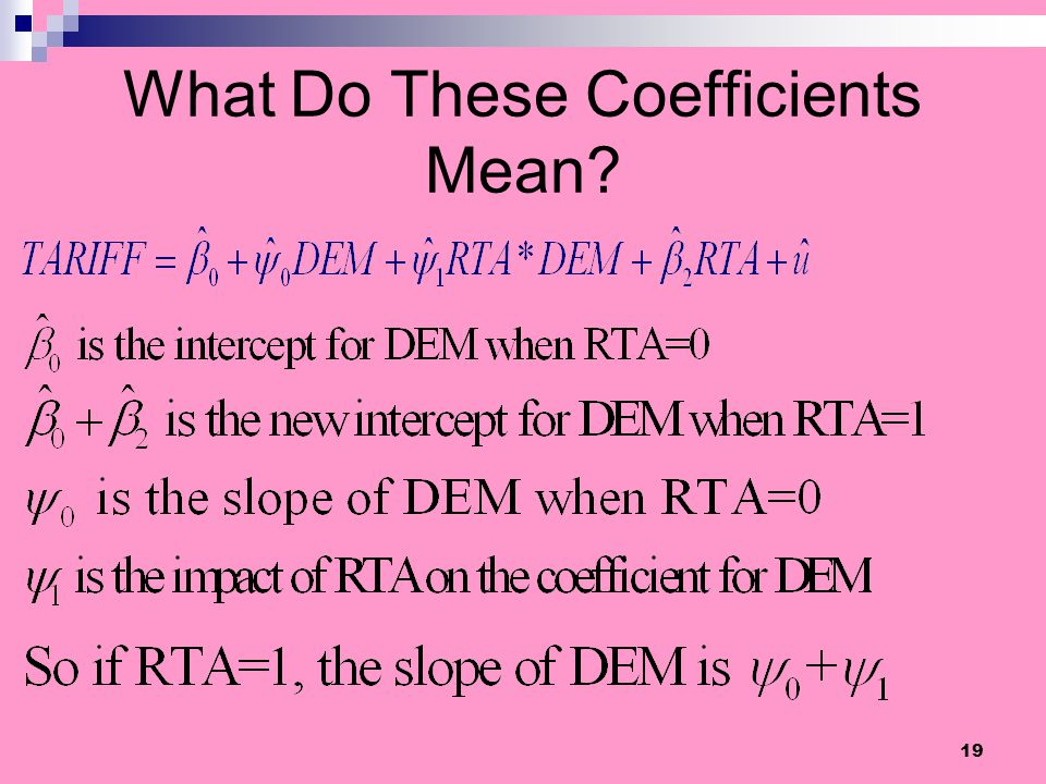 What Do These Coefficients Mean