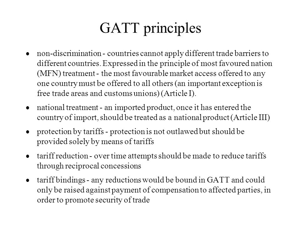 GATT principles