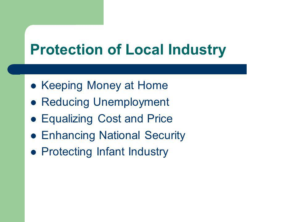 Protection of Local Industry