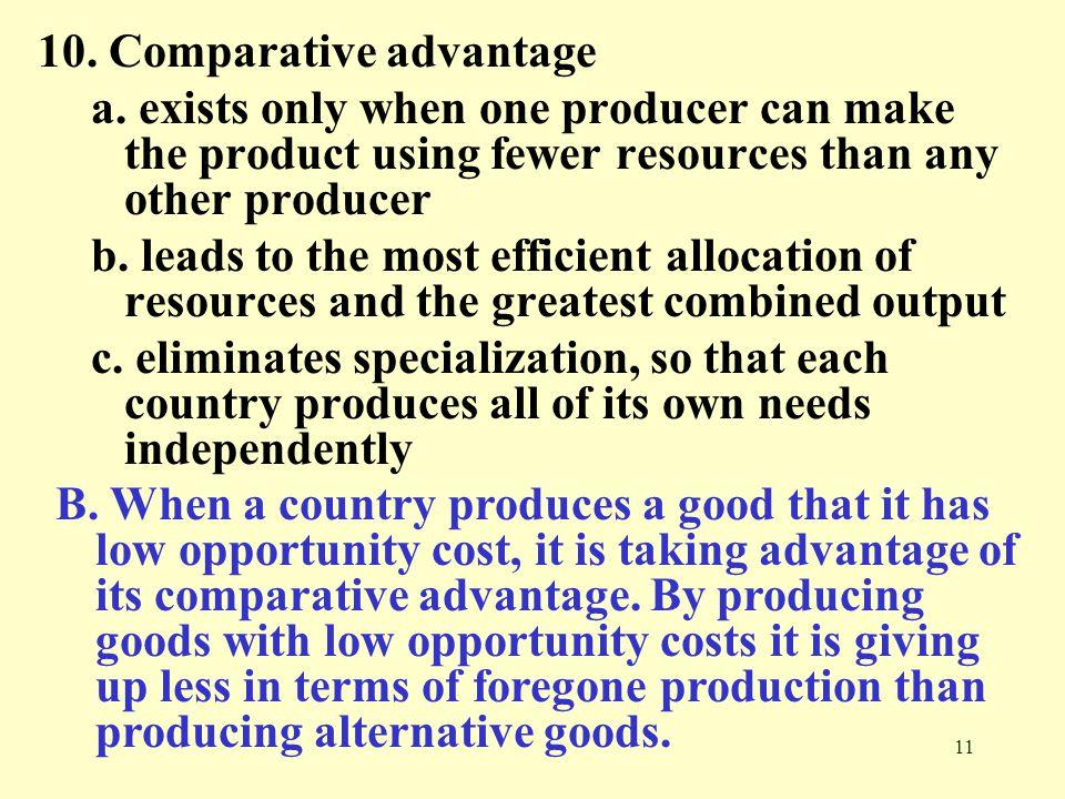 10. Comparative advantage