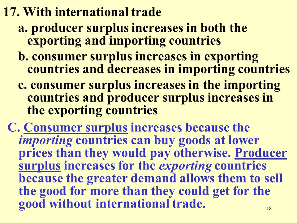17. With international trade