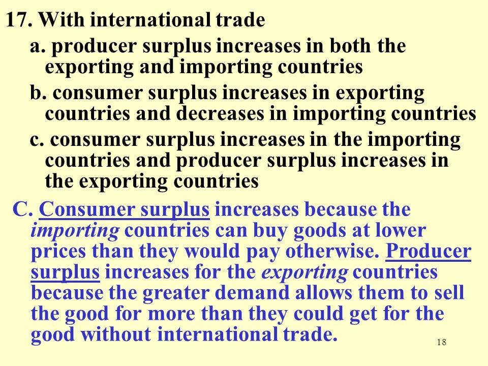 17. With international trade