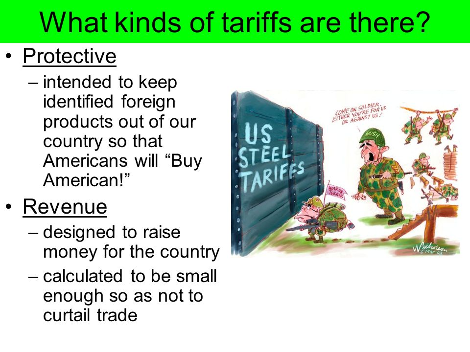What kinds of tariffs are there