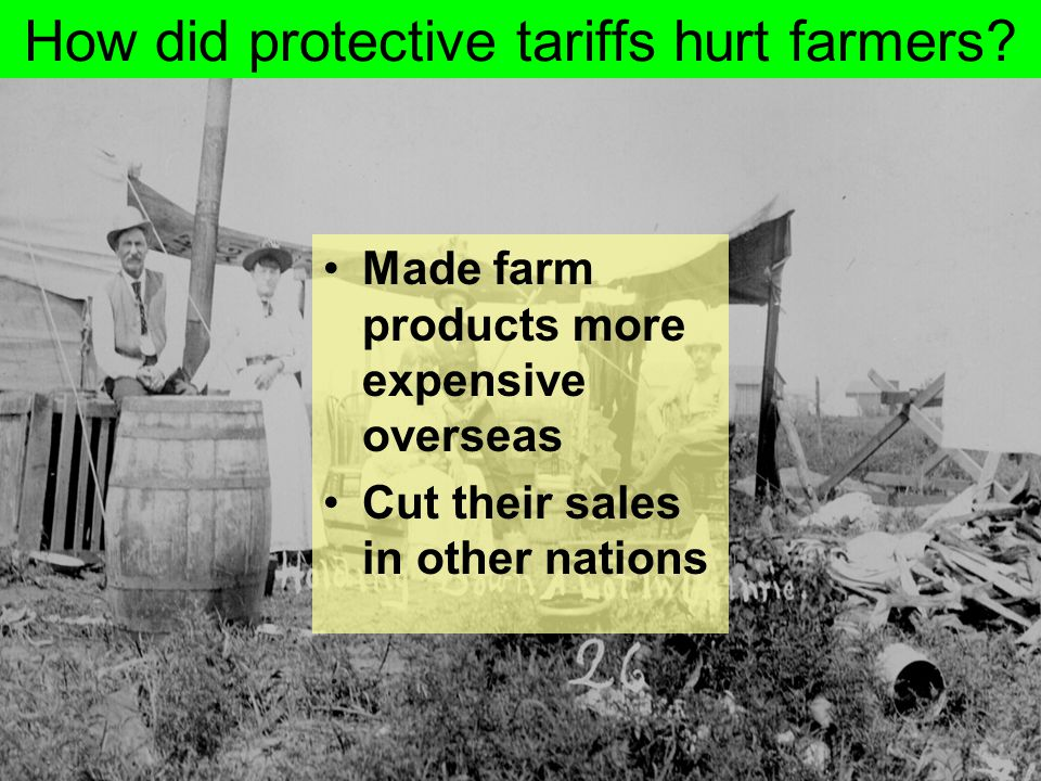 How did protective tariffs hurt farmers