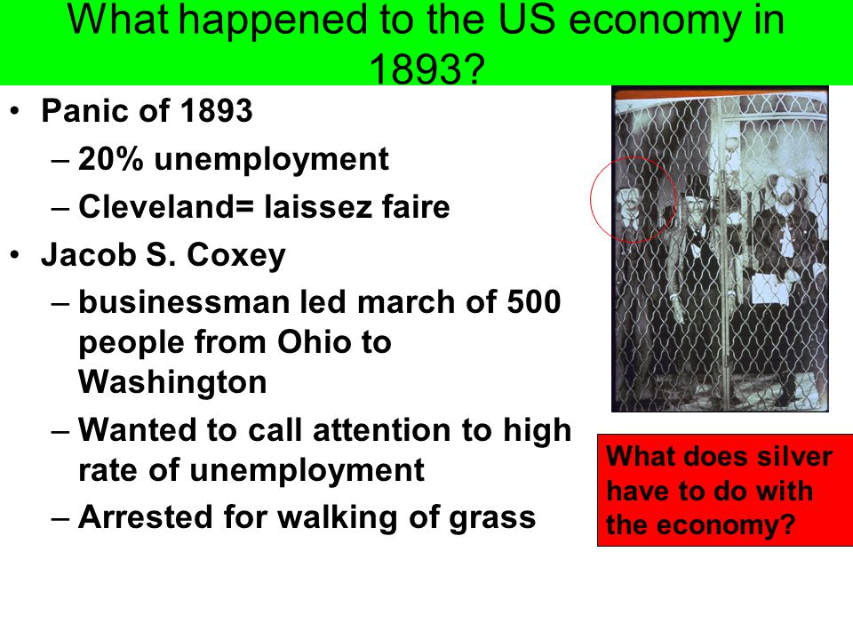 What happened to the US economy in 1893