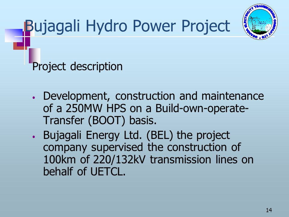 Bujagali Hydro Power Project
