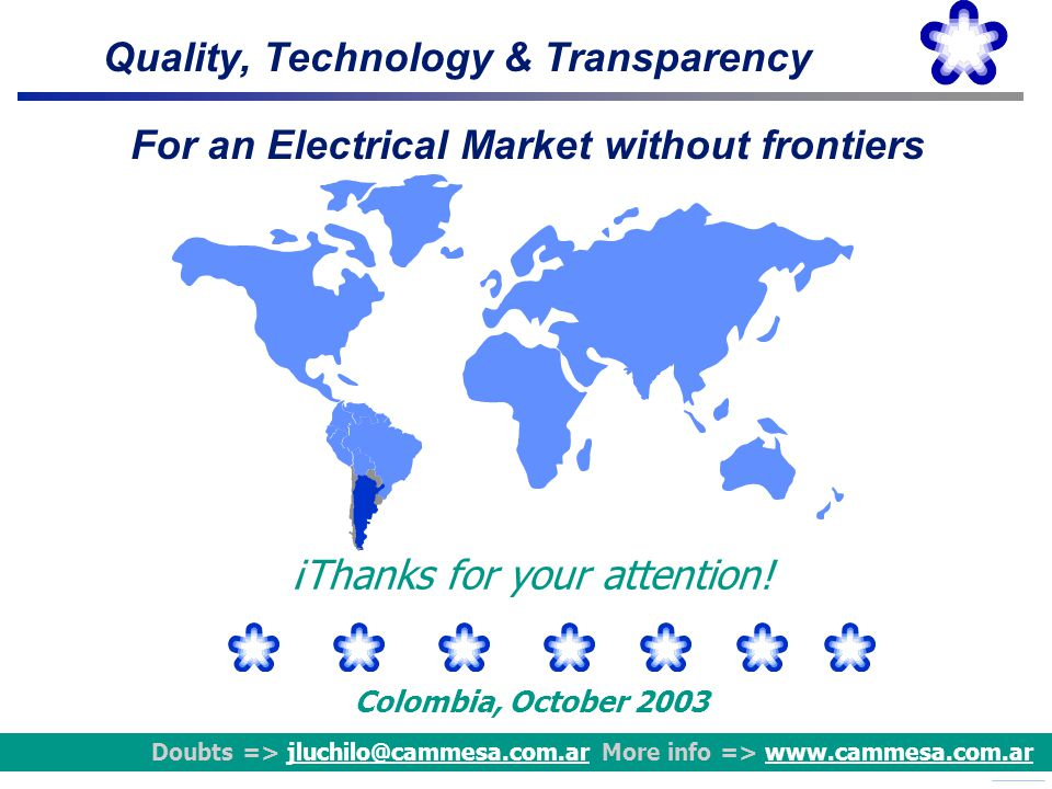 For an Electrical Market without frontiers
