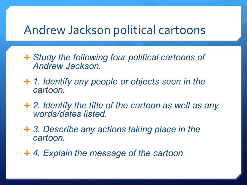 Andrew Jackson political cartoons
