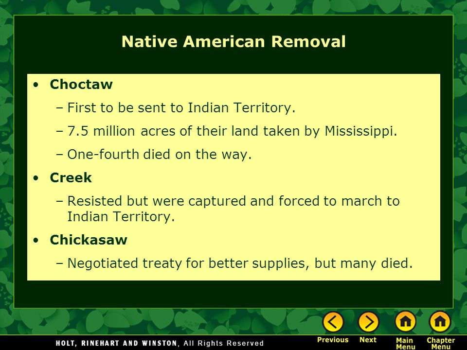 Native American Removal