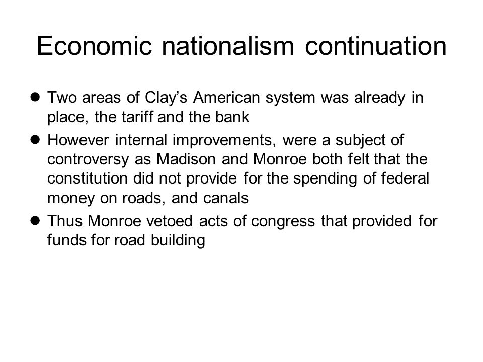 Economic nationalism continuation