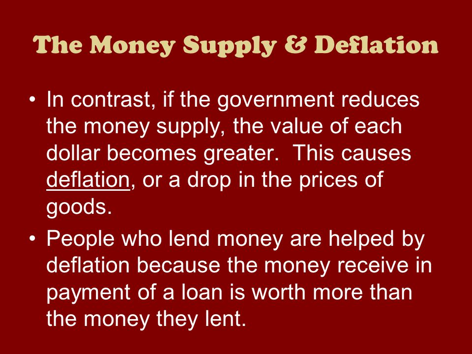 The Money Supply & Deflation