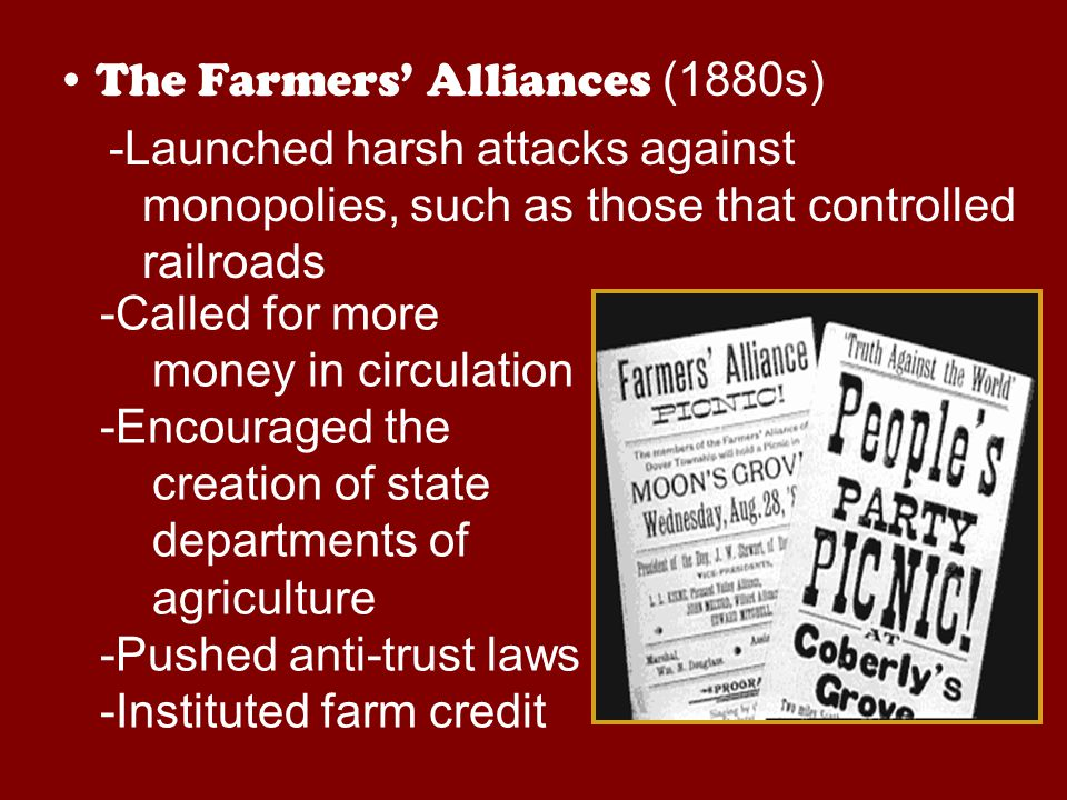 The Farmers' Alliances (1880s)