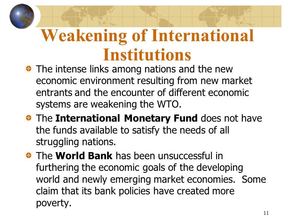 Weakening of International Institutions