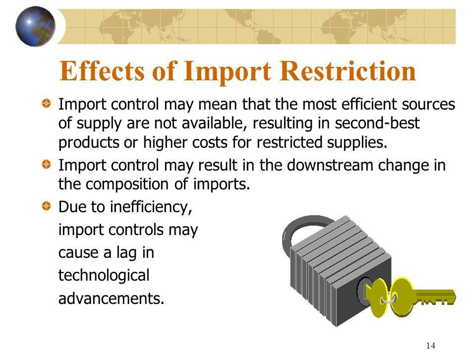 Effects of Import Restriction