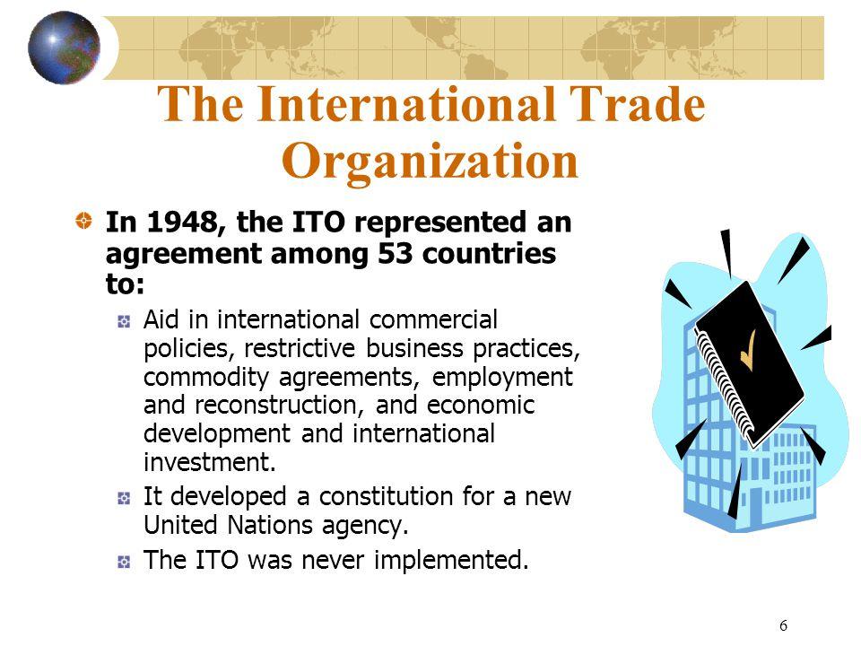 The International Trade Organization
