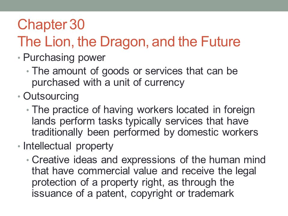 Chapter 30 The Lion, the Dragon, and the Future