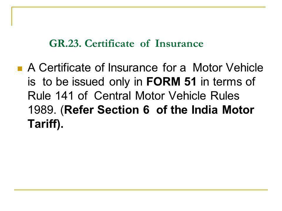 GR.23. Certificate of Insurance