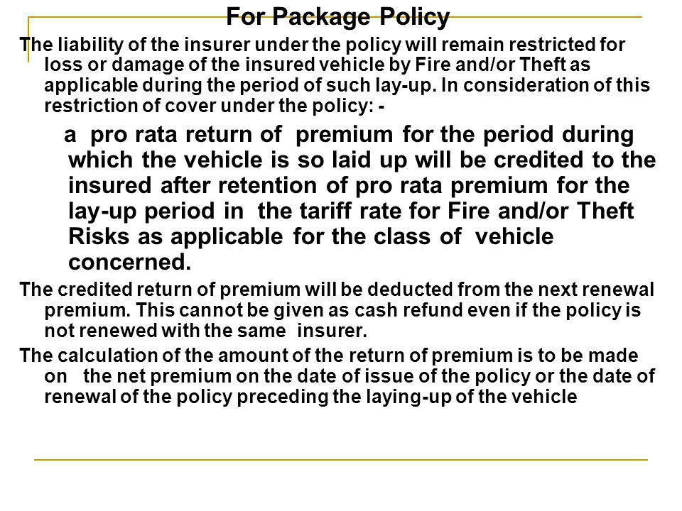 For Package Policy