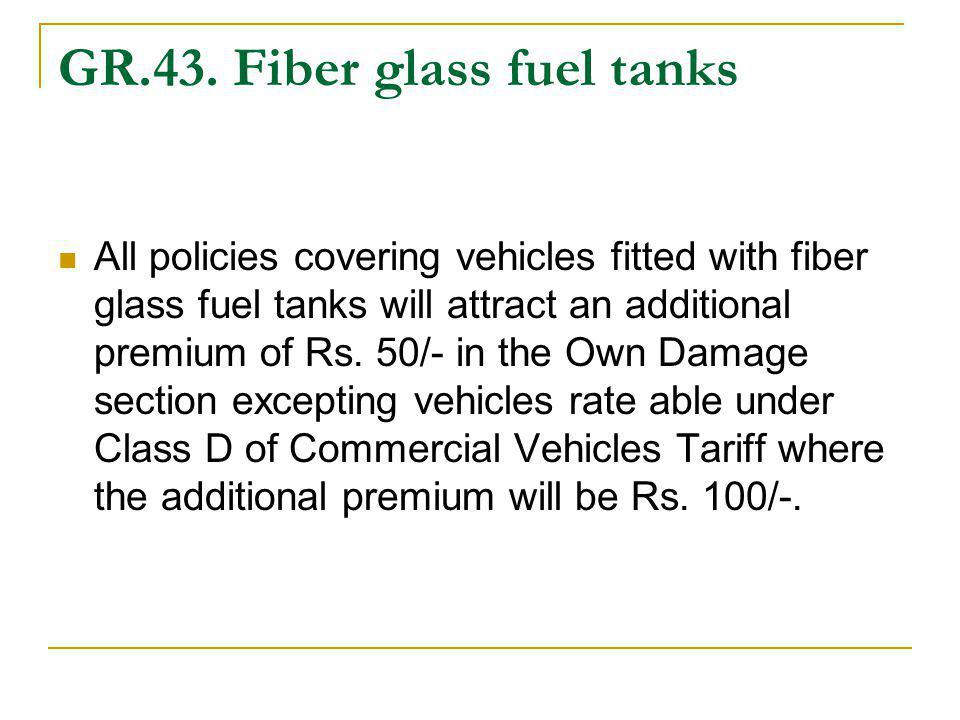 GR.43. Fiber glass fuel tanks